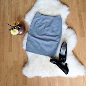 Fitted Business Casual Pencil Skirt, Gray